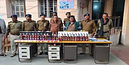 पुर्णिया में शराब कारोबारी पर पुलिस ने कसा शिकंजा, विदेशी शराब जब्त