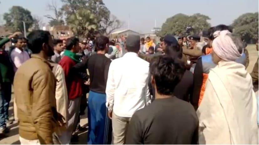 पटना में मंदिर की जमीन पर भू-माफियाओं द्वारा कब्जा करने की कोशिश, विरोध में सड़क पर उतरे लोग