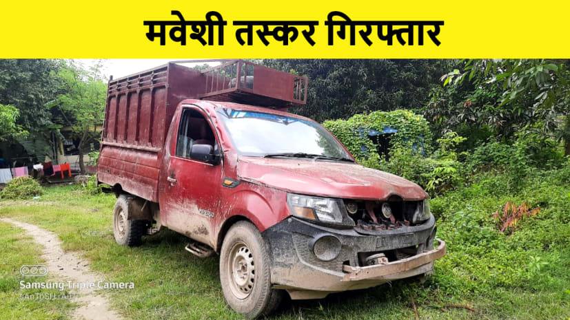 मोतिहारी में चार मवेशियों के साथ दो तस्कर गिरफ्तार, जांच में जुटी पुलिस