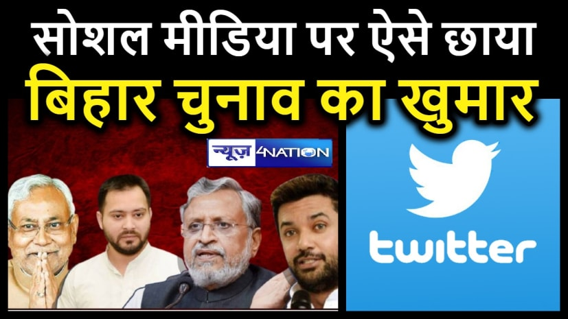 सोशल मीडिया पर छाया बिहार चुनाव का खुमार , टि्वटर पर टॉप ट्रेंड में  है #BiharElectionResults