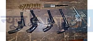 बिहार एसटीएफ ने पटना से 2 आर्म्स तस्कर को किया गिरफ्तार, कई हथियार बरामद