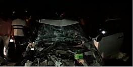 अनियंत्रित ट्रक ने कार में मारी टक्कर, एक की मौत, दो घायल