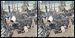मोतिहारी में दबंगों का नंगा नाच : लड़की भगाने के शक में लड़के के घरवालों को जमकर पीटा, घर में लगाई आग