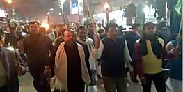 सीतामढ़ी में राजद कार्यकर्ताओं ने निकाला मशाल जुलूस, बंद को सफल बनाने की अपील