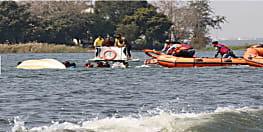 आईपीएस वाटर स्पोर्ट्स इवेंट के दौरान बड़ी झील में नाव पलटी, सभी को सुरक्षित बचाया गया