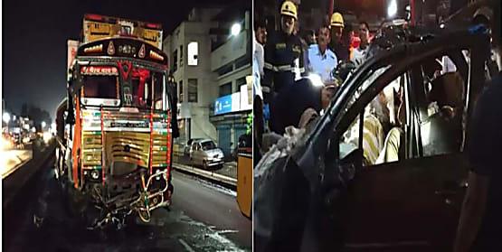 बड़ा हादसा : ट्रक और कार में आमने-सामने टक्कर, 9 लोगों की घटनास्थल पर मौत