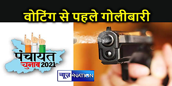 चुनाव से पहले मुखिया प्रत्याशियों के समर्थकों के बीच हुई गोलीबारी, दो लोगों को लगी गोली