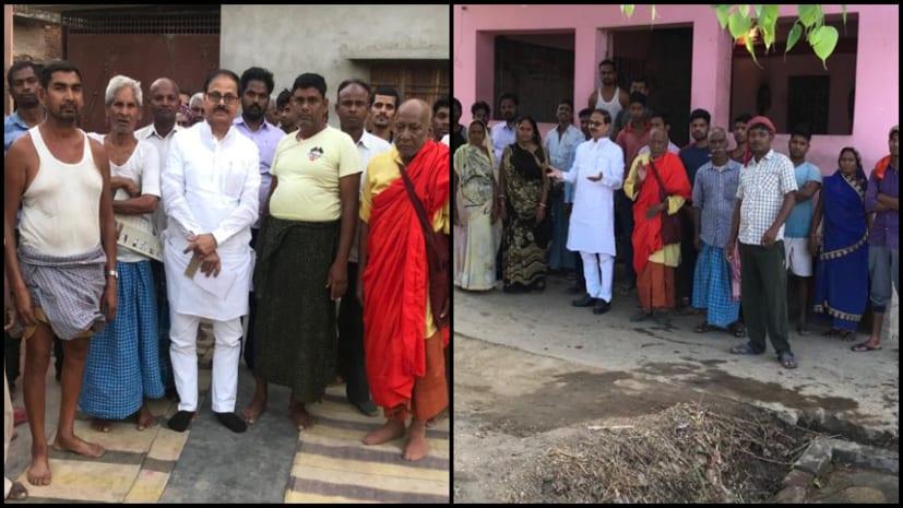 चन्दापुरी ने जहानाबाद में किया जनसंपर्क, जेडीयू प्रत्याशी चंदेश्वर चंद्रवंशी को जिताने की अपील