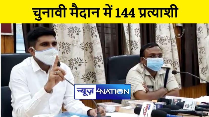 नालंदा : सात विधानसभा क्षेत्रों में 144 उम्मीदवार आजमाएंगे किस्मत, दो ने लिया नाम वापस