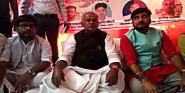 नवादा मेें एकदिवसीय धरना पर बैठे मांझी ने बोला बिहार सरकार पर हमला