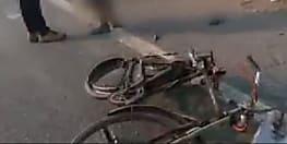 बस से कुचलकर साइकिल सवार की मौत