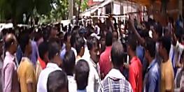एसकेएमसीएच पहुंचने पर कांग्रेस नेताओं का भारी विरोध,मरीज के परिजनों ने किया हंगामा