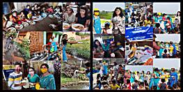 आज आई डब्ल्यू सी पटना वनश्री ने स्लम बच्चों को खिलाया खाना ,बांटे नये कपड़े और खिलौने