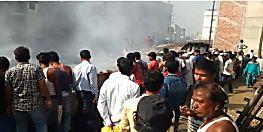 रजाई दुकान में लगी आग, लाखों की संपत्ति जलकर खाक