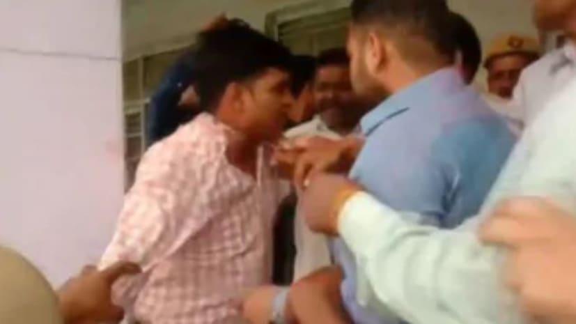 अभी-अभी मतदान के दौरानBJPसमर्थकों ने एक चुनाव अधिकारी को पीटा