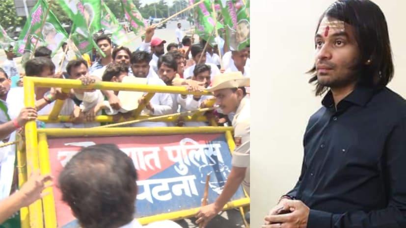 ....जब तेजप्रताप ने छात्र राजद को राजधानी की सड़कों पर अनाथ छोड़ दिया