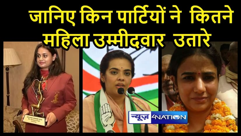 बिहार विधानसभा चुनाव 2020: जानिए किन पार्टियों द्वारा कितने महिला उम्मीदवार को मैदान में उतारा गया... चर्चित मुखिया से लेकर दागी पूर्व मंत्री तक मैदान में