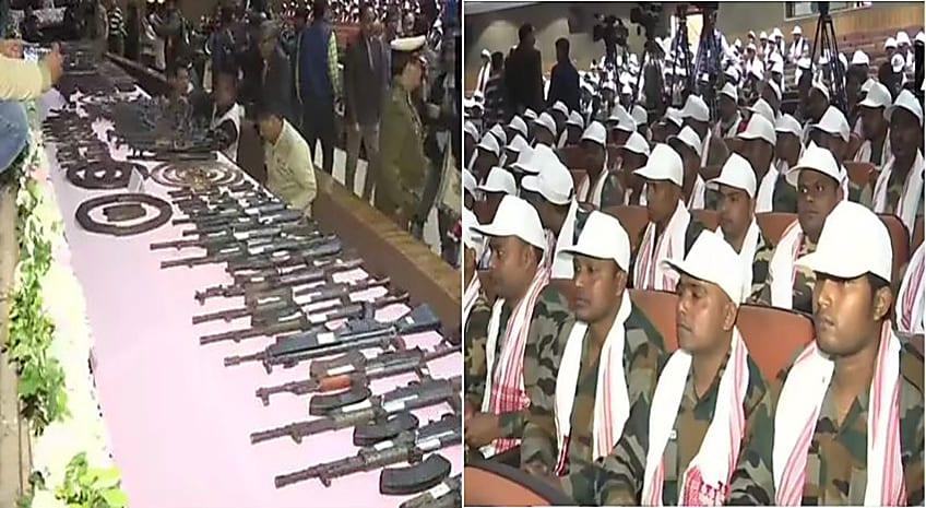 उग्रवाद की मार झेल रहे असम में शांति की जगी बड़ी उम्मीद, 8 प्रतिबंधित संगठनों के 644 उग्रवादियों ने किया सरेंडर