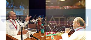 .....और खाली कुर्सियों को नीतीशगान सुनाते रहे आरसीपी सिंह