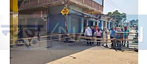 नवादा में News4nation की खबर के बाद जागे लोग, मोहल्ले में लगाया बैरियर