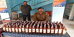पटना में वाहन जांच के दौरान कार छोड़ भागा ड्राइवर, तलाशी के दौरान मिली शराब