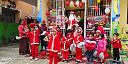 पटना के S.N. NICE किड्स स्कूल के नन्हे मुन्ने बच्चों ने मनाया क्रिसमस, बच्चों ने सैंटा के साथ की मस्ती