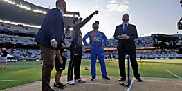 भारत ने जीता टॉस, न्यूजीलैंड करेगा पहले बल्लेबाजी