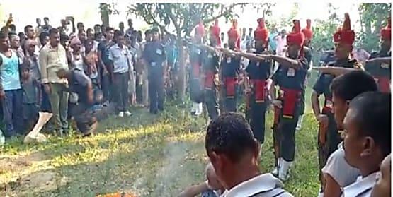 शहीद भोला महतो का पार्थिव शरीर पहुंचा सीतामढ़ी, लोगों ने दी अंतिम विदाई