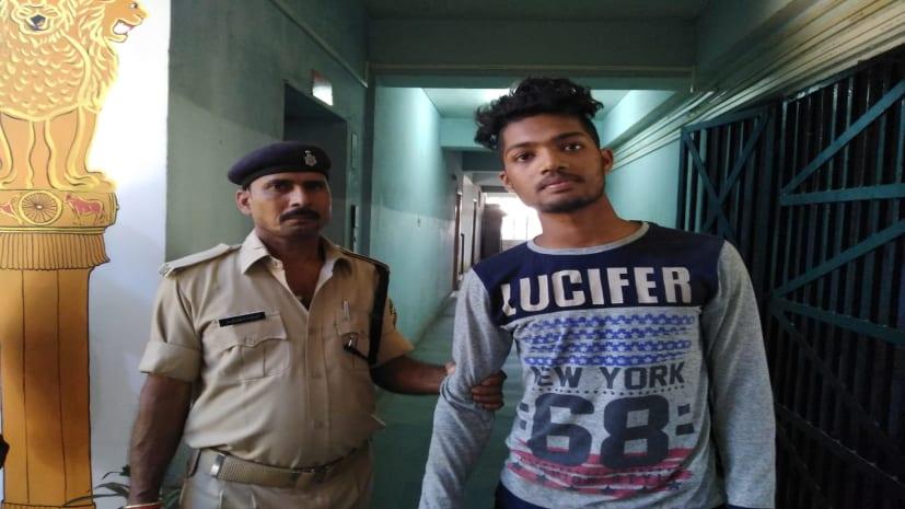 गांधी मैदान से रंगे हाथ बाइक चोर गिरफ्तार, पुलिस ने खदेड़ कर पकड़ा