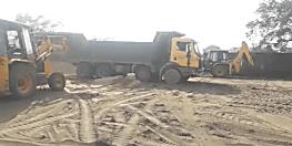 अवैध बालू खनन को लेकर प्रशासन सख्त, 39 ट्रक बालू को किया जब्त