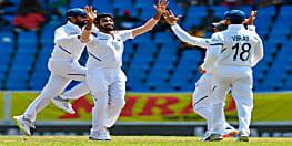 बुमराह के 5 विकेट के बदौलत भारत ने विंडीज़ को 318 रनों से हराया