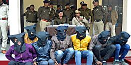 पुलिस ने 48 घण्टे के भीतर डकैती कांड का किया उद्भेदन, 7 कुख्यात अपराधियों को हथियार के साथ किया गिरफ्तार