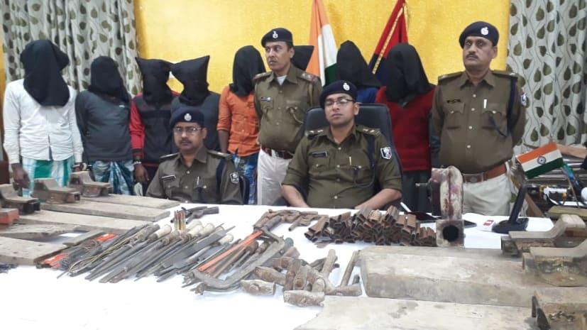 मुंगेर में सज रही थी हथियार की मंडी, पुलिस ने 8 फैक्ट्री का किया खुलासा