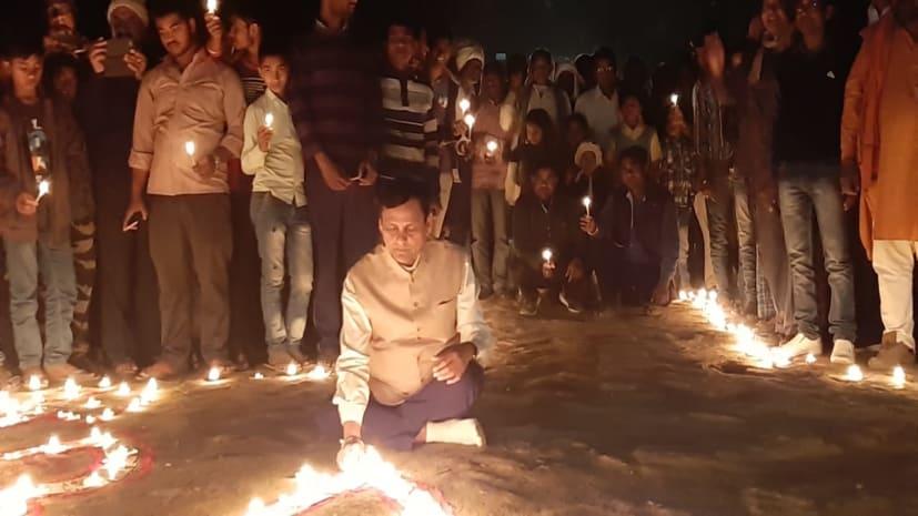 पूरे बिहार में भाजपा का कमल ज्योति अभियान, नित्यानंद राय ने हाजीपुर में जलाया दीप