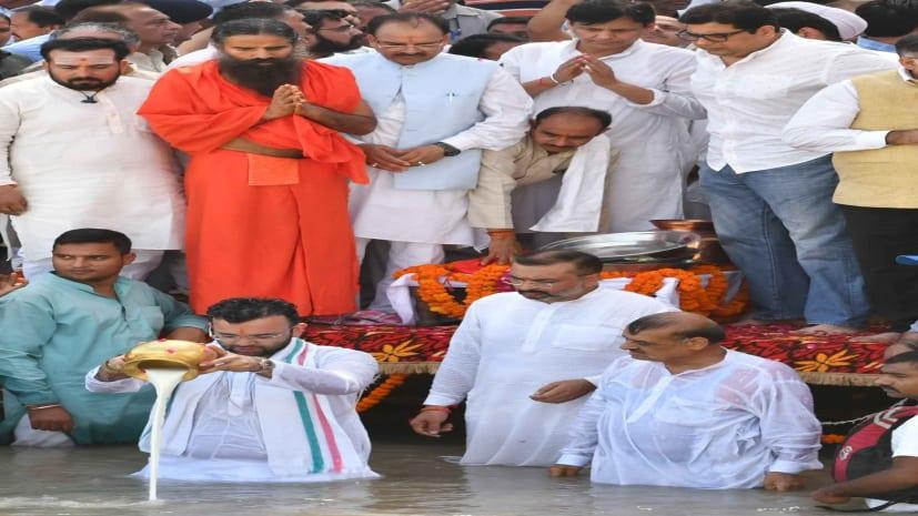 अरुण जेटली की अस्थियां हरिद्वार के गंगा में प्रवाहित,केंद्र सरकार के प्रतिनिधि के तौर पर गृह राज्य मंत्री नित्यानंद राय रहे मौजूद