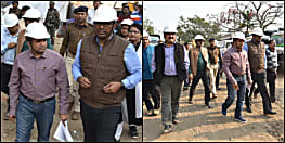 आर ब्लॉक-दीघा सड़क 12 महीने में ही बनकर हो जाएगी तैयार, संजय अग्रवाल और कुमार रवि ने किया निर्माण कार्य का निरीक्षण
