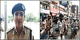 दुर्गा पूजा को लेकर पटना पुलिस का फ्लैग मार्च, खलल डालने वालों पर रहेगी पैनी नजर
