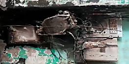 शॉर्ट सर्किट के कारण दुकान में लगी आग, लाखों की सम्पति जलाकर राख