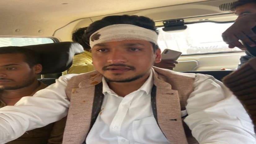 राजद और जेडीयू छात्र नेता आपस में भिड़े,मारपीट में एक का सिर फटा..तेजप्रताप यादव पहुंचे थाना