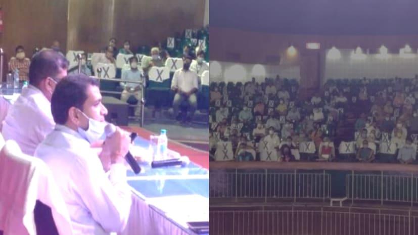 NDA और NEVEL परीक्षा को लेकर प्रमंडलीय आयुक्त ने की बैठक, अधिकारियों और केन्द्राधीक्षक को दिए आवश्यक निर्देश