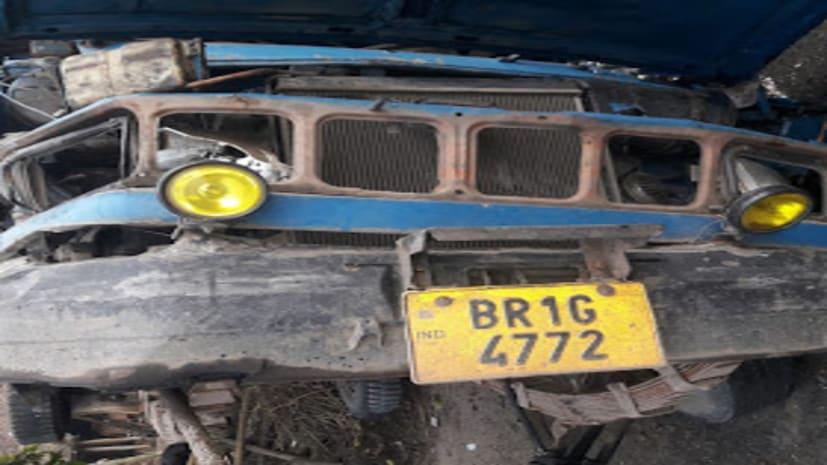 नवगछिया में ट्रक और स्कॉर्पियो की टक्कर में एक की मौत दूसरा घायल