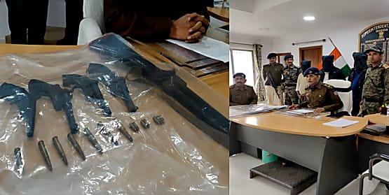 मुंशी अपहरण काण्ड के आरोपियों को पुलिस ने दबोचा, हथियार और गोली बरामद