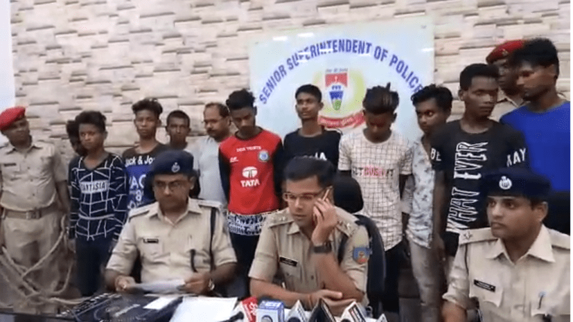 जमशेदपुर पुलिस को मिली बड़ी सफलता, चोर गिरोह का खुलासा, 12 गिरफ्तार
