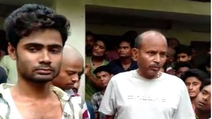 ग्रामीणों ने देशी कट्टा के साथ अपराधी को पकड़ा, पुलिस के किया हवाले
