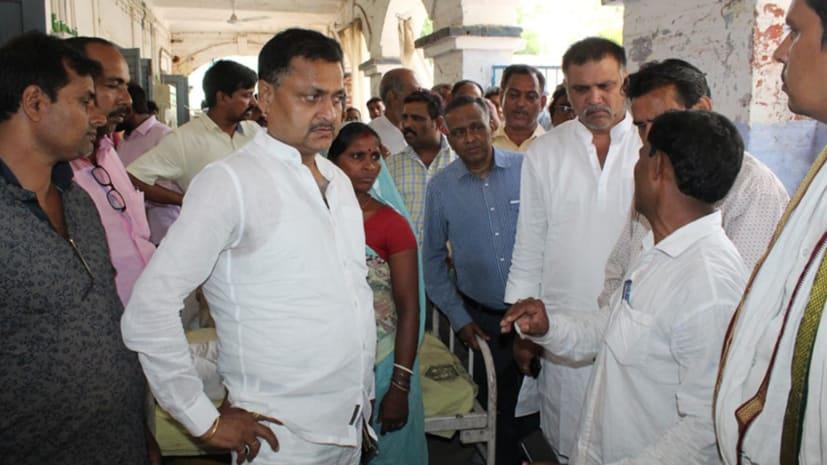 पूर्व सांसद सूरजभान सिंह ने किया नवादा सदर अस्पताल का दौरा, मरीजों का जाना हाल-चाल
