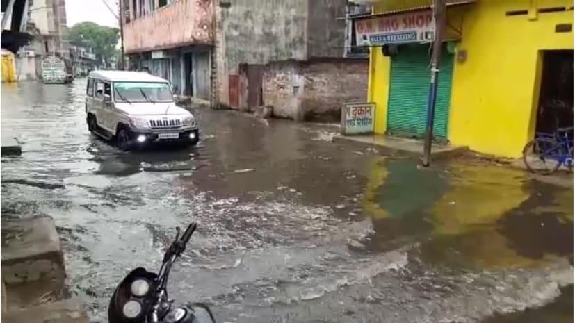 दो दिनों की लगातार बारिश से गया नगर निगम की खुली पोल, कई इलाकों में जलजमाव