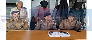 नवादा में अपराध की साजिश रचते सुपारी किलर समेत तीन अपराधी गिरफ्तार, दो फरार