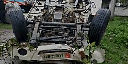 मोतिहारी में पुल का रेलिंग तोड़ते हुए पिकअप गिरा नीचे, ड्राइवर की मौत