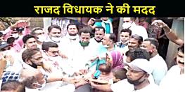 कफ़न के साथ खेलते मासूम का वायरल विडियो देखकर राजद विधायक पहुंचे मृतका के घर, 5 लाख का दिया चेक