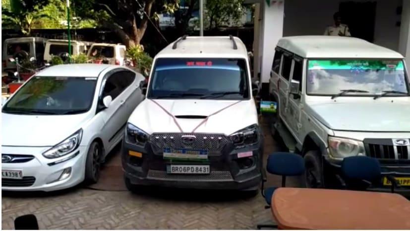 तस्करी का नया फंडा : राजनीतिक दल और पुलिस का बोर्ड लगे गाड़ी से होती है शराब की तस्करी